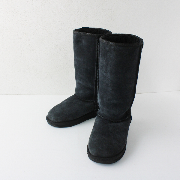 EMU Australia エミュ オーストラリア ムートン ミディアム ブーツ 23.0/チャコールグレー 靴【2400012065376】