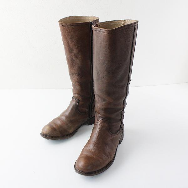 Pal'las Palace パラスパレス レザー ロングブーツ 2/ブラウン 靴【2400012065925】