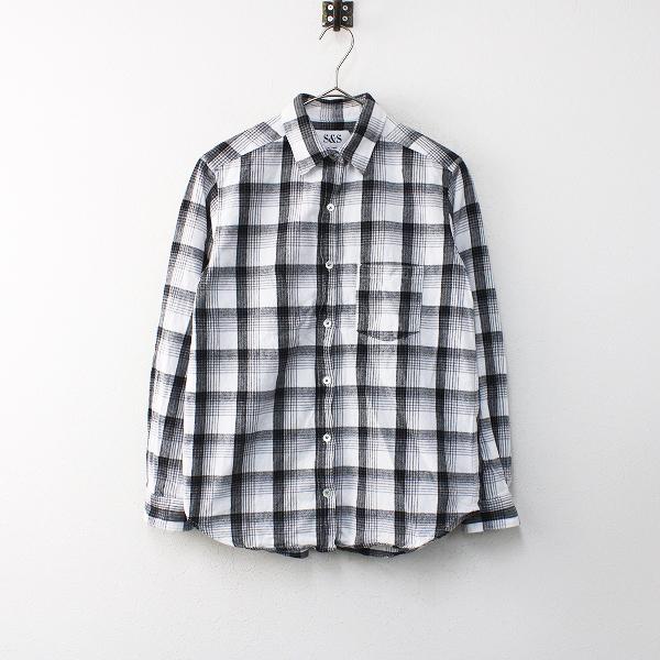Spick & Span スピック&スパン 起毛コットン チェックシャツ F/ホワイト グレー【2400012066694】