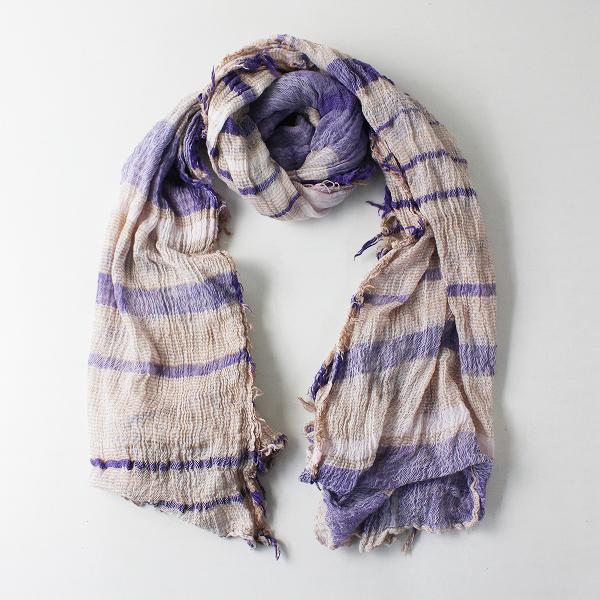 tamaki niime タマキニイメ 玉木新雌 コットン オンリーワン roots shawl BIG ルーツショール ビッグ/パープル系【2400012068575】