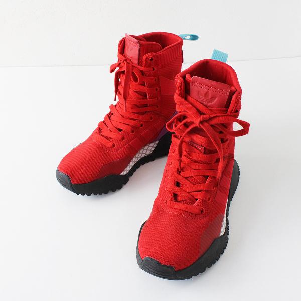 adidas Originals アディダスオリジナルス H.F/1.3 PK BY978 ハイカットスニーカー 22cm/レッド 赤 レディース【2400012073715】