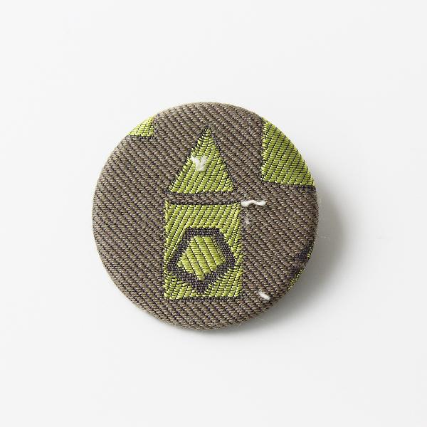 mina perhonen ミナペルホネン サンキューベリーバッジ/カーキグレー系 刺繍【2400012081642】