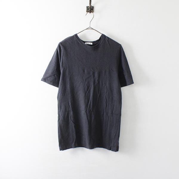 2020SS 定価1.3万 Deuxieme Classe ドゥーズィエムクラス コットンリネン Li/Co Tシャツ /グレー系 ブラック トップス【2400012085305】