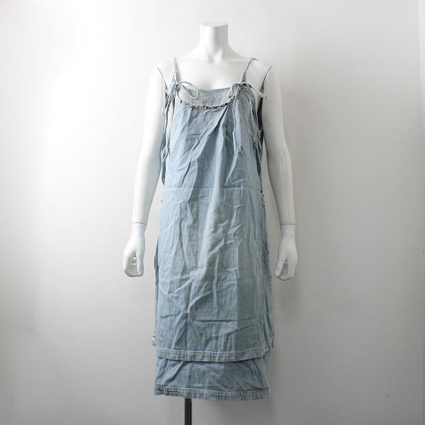 KAPITAL キャピタル KOUNTRY カントリー 装飾 重ね デニム サロペットスカート 1/ライトブルー【2400012086050】