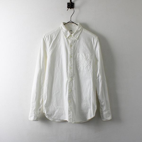 HYKE ハイク オックスフォード ボタンダウンシャツ 1/ホワイト ブラウス【2400012086494】