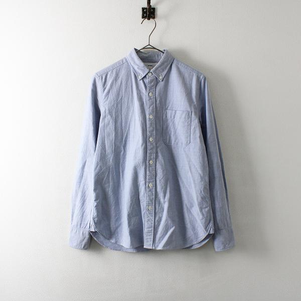 HYKE ハイク オックスフォード ボタンダウンシャツ 1/ブルー ブラウス【2400012086500】