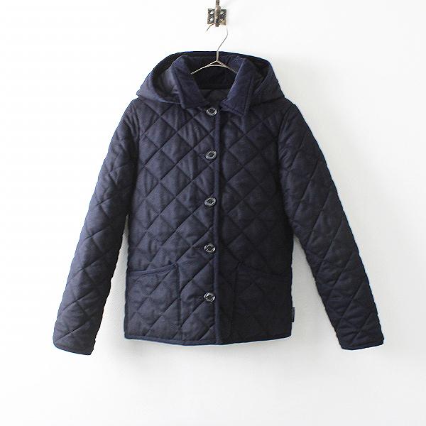 定価2.8万 Traditional Weatherwear トラディショナルウェザーウェア LDS WAVERLY HOOD SHORT ジャケット 34/ネイビー【2400012089433】