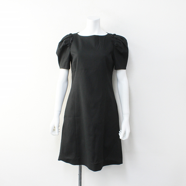 2019 FOXEY NEW YORK COLLECTION フォクシー ニューヨーク コレクション 39467 Dress フリル ワンピース 38/ブラック【2400012091610】