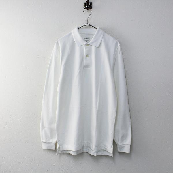 L.L.Bean エルエルビーン TRADITIONAL FIT メンズ プレミアム ダブル エル ポロシャツ S/ホワイト【2400012092570】