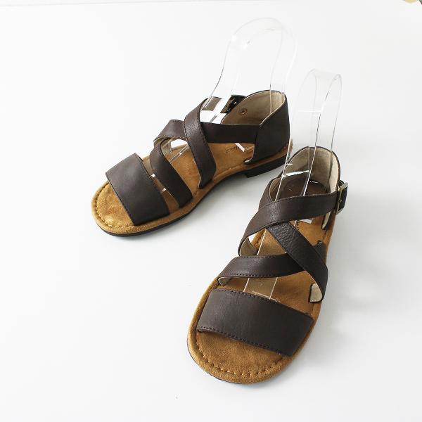 SM2 サマンサモスモス レザー ベルト サンダル M/ダークブラウン 靴 シューズ【2400012093553】