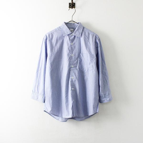 TAKEO KIKUCHI タケオキクチ コットン ストライプ シャツ 1/ブルー ブラウス カットソー トップス メンズ【2400012094468】