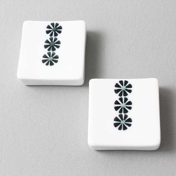 白山陶器 かのん 箸置 波佐見焼 2個セット/白 はしおき【2400012095229】
