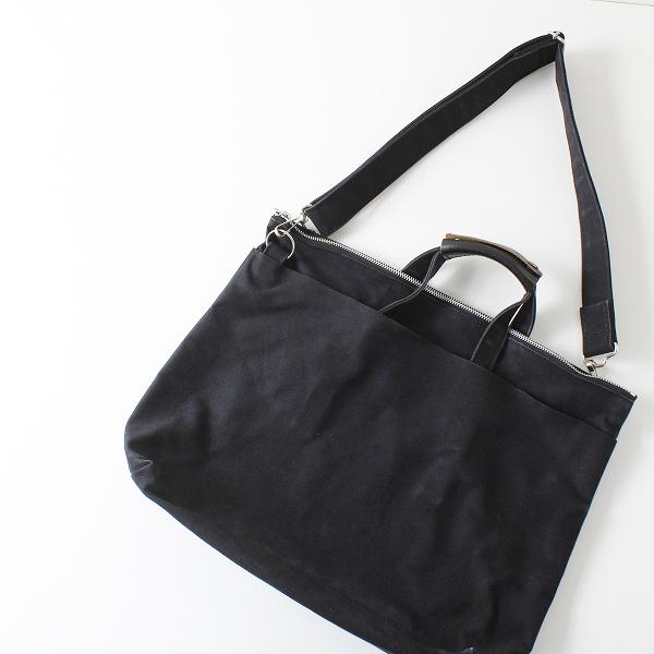 TEMBEA テンベア キャンバス 2WAY バッグ/ブラック 鞄 ブリーフケース【2400012096202】