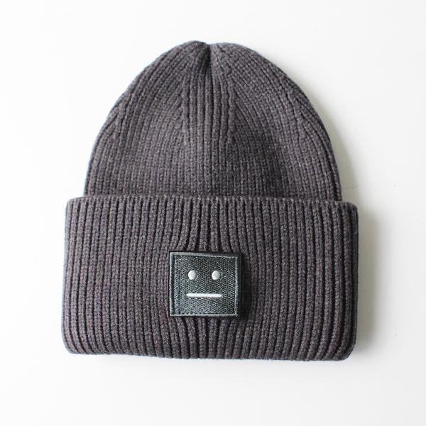 未使用品 Acne Studios アクネストゥディオズ ウール PANSY WOOL Large face HAT ニット キャップ /グレー 帽子【2400012099180】