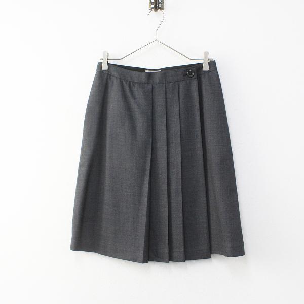 MARGARET HOWELL マーガレットハウエル ウール プリーツスカート 2/チャコール ボトムス【2400012102385】