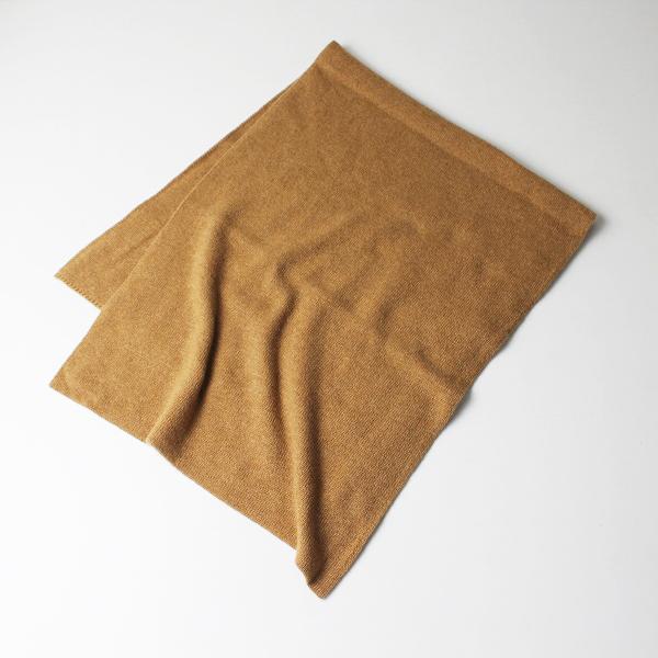 美品 Johnstons of Elgin ジョンストンズ カシミヤ マフラー/キャメル ストール【2400012102859】