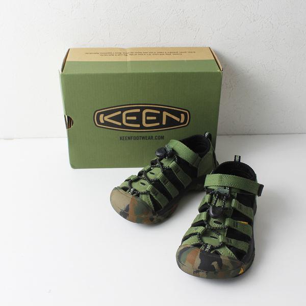 KEEN キーン KIDS NEWPORT H2 ニューポート サンダル 18.5cm/CRUSHED BRONZE GREEN グリーン【2400012108769】