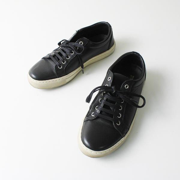 PESCADOR ペスカドール レザー スニーカー 37/ブラック 靴【2400012108943】