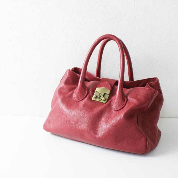 ANAYI アナイ レザー ハンドバッグ/レッド 小物 鞄【2400012111301】