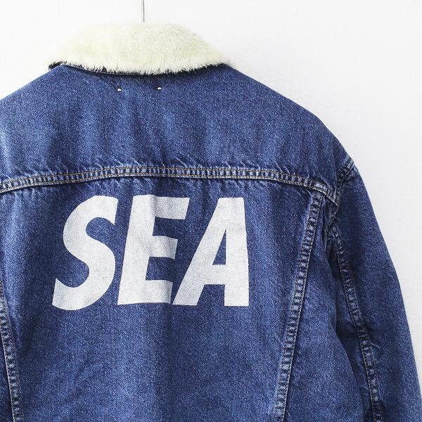 未使用品 2020AW MINEDENIM WIND AND SEA マインデニム ウィンダンシー Denim Boa GJKT デニムボアジャケット 3/Gジャン【2400012121614】