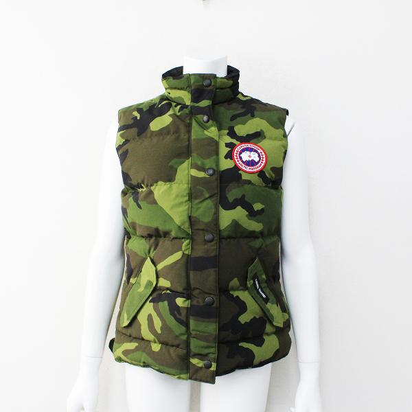 国内正規品 CANADA GOOSE カナダグース 2832L Freestyle Vest フリースタイル ベスト S/カモフラ カーキ ダウンベスト【2400012131590】