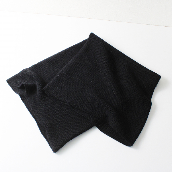 Y's Yohji Yamamoto ワイズ ヨウジヤマモト ウール ニット スヌード 2/ブラック ケーブル ストール 巻き【2400012132849】