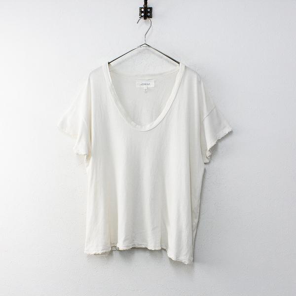 UNITED ARROWS the GREAT ユナイテッドアローズ ダメージ加工 Uネック Tシャツ 1/アイボリー トップス【2400012134188】