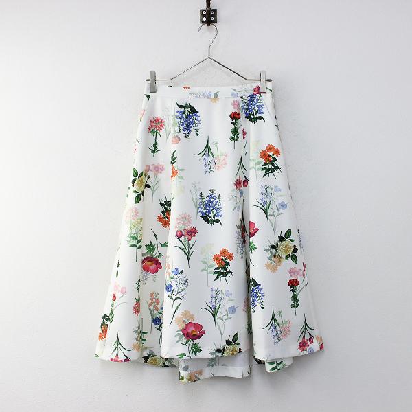 未使用 定価1.7万 Rose Tiara ローズティアラ ボタニカルフラワーフィッシュテールスカート 40/ホワイト ゴム【2400012149106】
