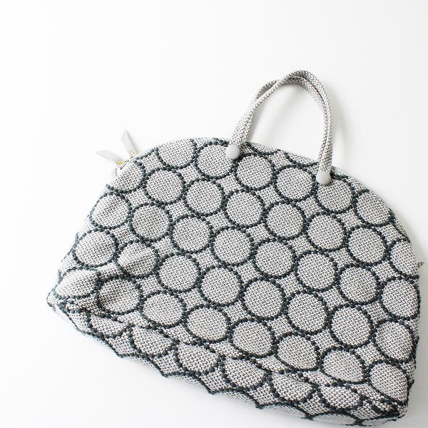 未使用 2019AW mina perhonen ミナペルホネン tambourine bell bag 大/ライトグレー トートバッグ 刺繍【2400012153936】