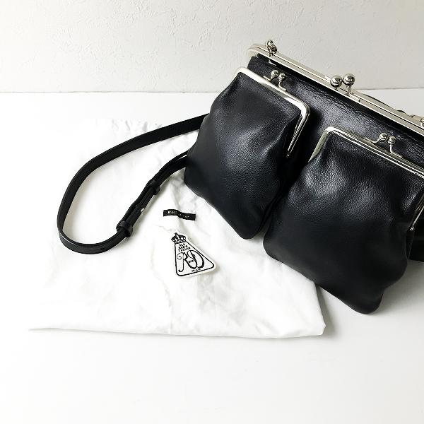 R&D.M.Co- オールドマンズテーラー レザーがま口ショルダーバッグ/ブラック 鞄【2400012158429】