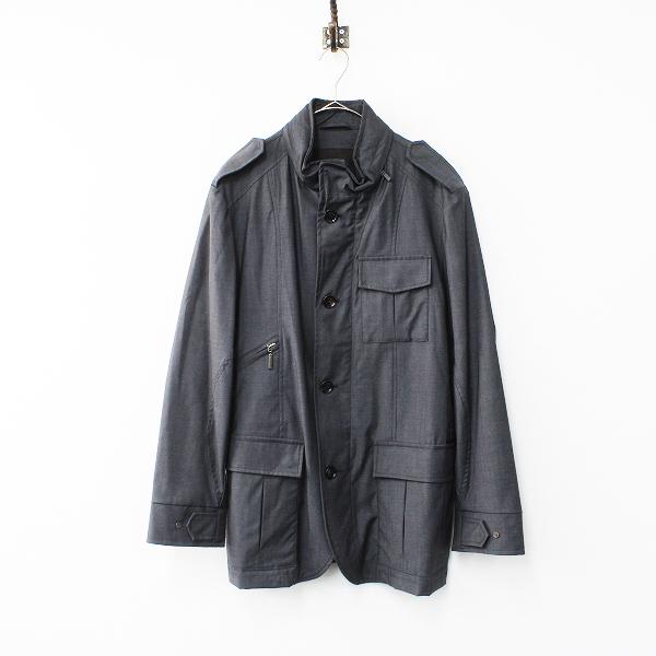 MOORER ムーレー FEYEM ウール ステンカラー コート 52/グレー ジャケット アウター メンズ【2400012161078】