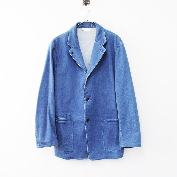 定価4万 nanamica ナナミカ SUAF887 コットン デニム テーラード ジャケット M/ブルー メンズ【2400012161085】