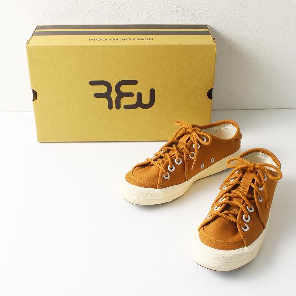 定価1.2万 RFW アールエフダブリュー SANDWICH-LO HERITAGE スニーカー 4/キャメル 靴【2400012163744】