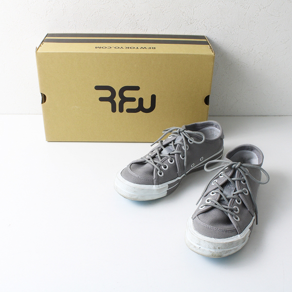 定価1.2万 RFW アールエフダブリュー SANDWICH-LO STANDARD スニーカー 4/グレー 靴【2400012163751】