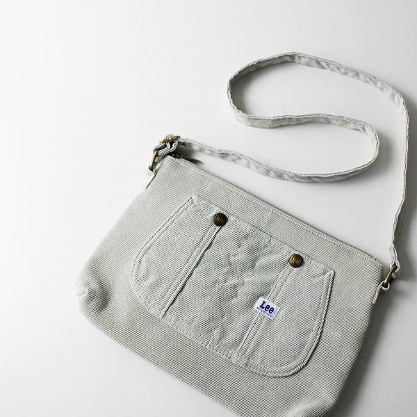 Lee リー コーデュロイ ショルダー ジップ バッグ F/ライトグレー ポシェット【2400012163966】