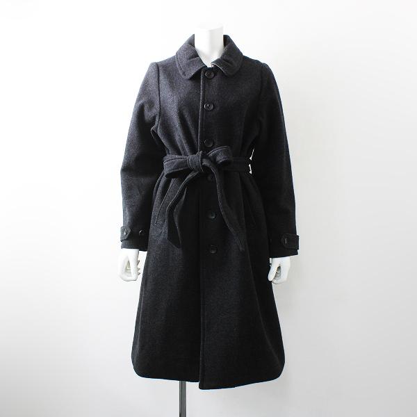 nest Robe ネストローブ ウールカシミヤ混 ステンカラー コート /グレー ロング アウター【2400012164772】