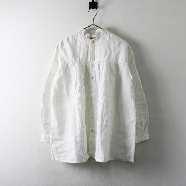 KAPITAL キャピタル ソフトリネン ハーベストシャツ S/ホワイト トップス【2400012167094】