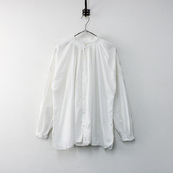 Veritecoeur × 吉田羊 リンネル ヴェリテクール LN-01 カディコットン ブラウス F/オフホワイト トップス【2400012167216】-.