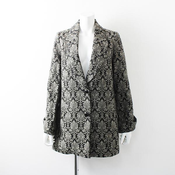 Lois CRAYON ロイスクレヨン ウール混 ジャガード コート M/グレー アウター【2400012167438】
