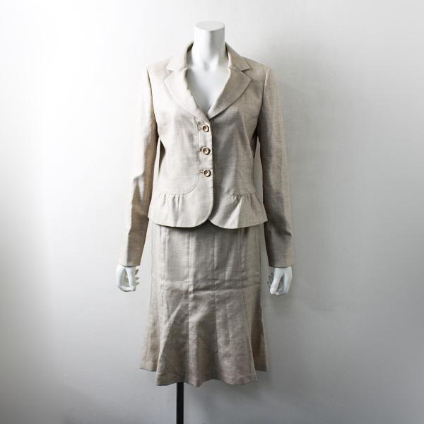 Aylesbury アリスバーリー ジャケット スカート スーツ セットアップ 8A/ベージュ フォーマル【2400012167780】