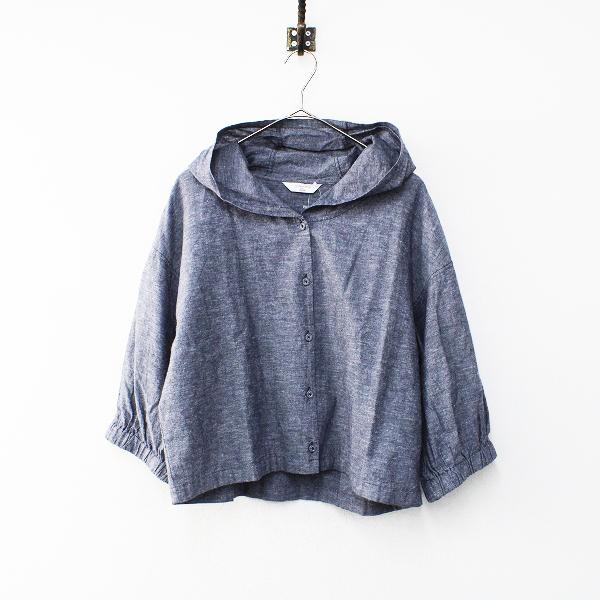 美品 Samansa Mos2 blue SM2 サマンサモスモスブルー フーデッドシャツ ブルゾン FREE/ブルー【2400012167896】