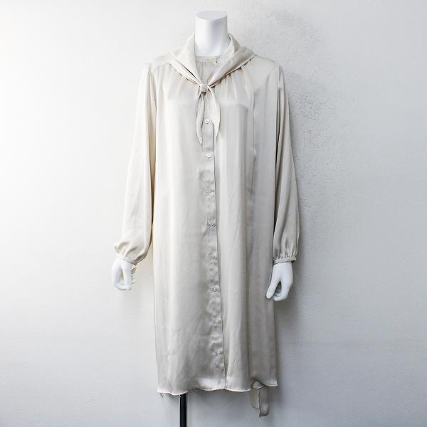 美品 2020SS 春夏 定価2.8万 Lois CRAYON ロイスクレヨン スカーフネック シャツ ワンピース M【2400012168398】