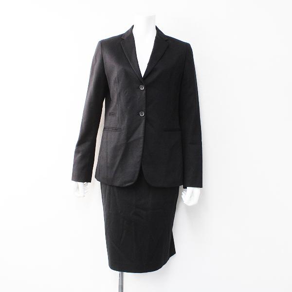 UNIQLO +J ユニクロ ジルサンダー ウール ジャケット スカート スーツ セットアップ L 64cm/ブラック【2400012168978】