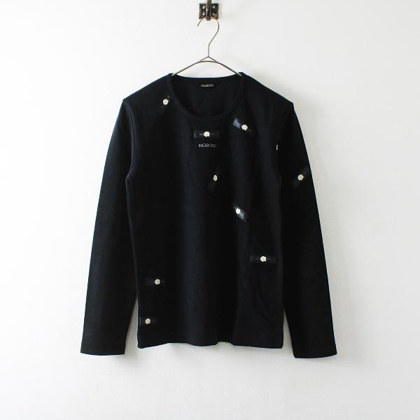 INGEBORG インゲボルグ ロゴワッペン Tシャツ M/ブラック【2400012171978】