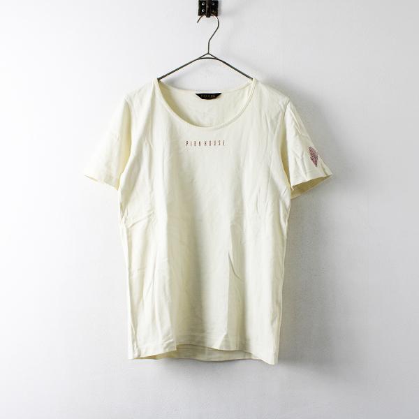 PINK HOUSE ピンクハウス ロゴプリント Tシャツ M/アイボリー【2400012172814】