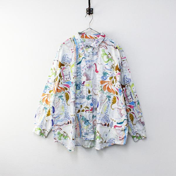 2020AW tsumori chisato by niko and… ツモリチサト ニコアンド happy stuff ワイヤー入ビッグシャツ 4/ホワイト コラボ【2400012173347】