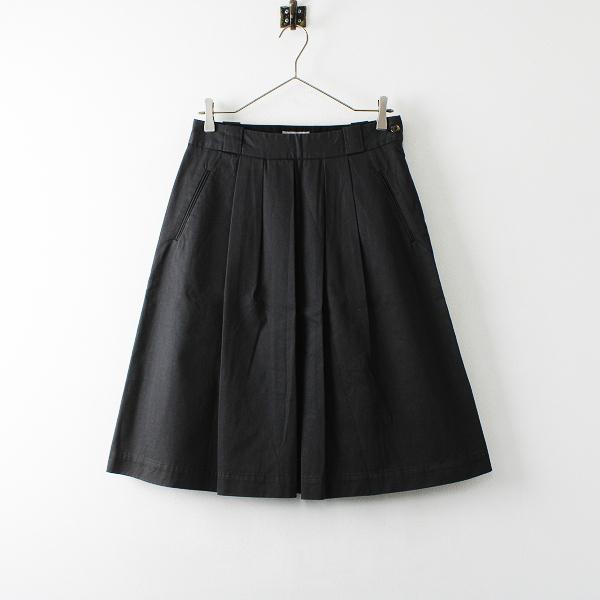 MARGARET HOWELL マーガレットハウエル コットン プリーツスカート 2/チャコール ボトムス【2400012180390】