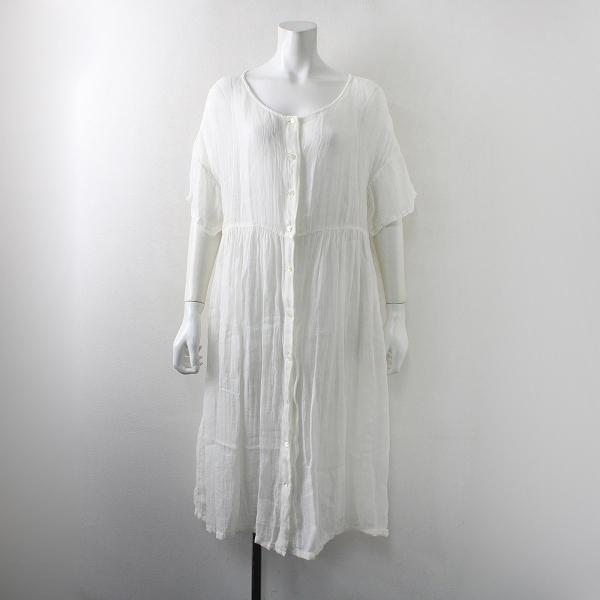 nest Robe ネストローブ リネン シアー ロングワンピース/ホワイト フレア【2400012181489】