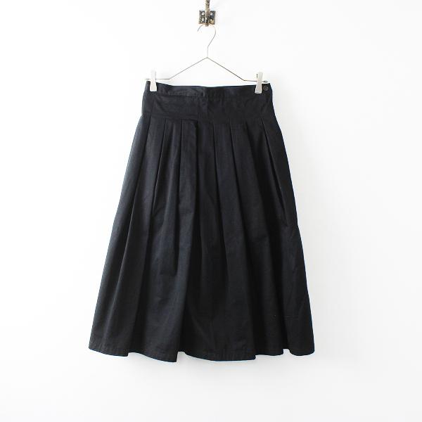 GRANDMA MAMA DAUGHTER グランマママドーター チノプリーツロングスカート 0/ブラック【2400012181700】