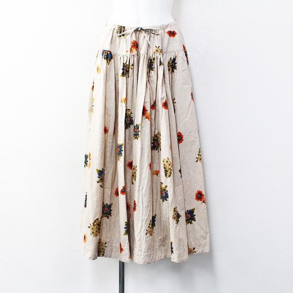 希少 2021年 限定販売商品 45R フォーティーファイブアール マーガレットプリントのスカート 0/ベージュハケ目【2400012184893】